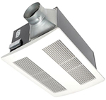 """Panasonic FV-11VHL2, The Panasonic FV-11VHL2 Bathroom Exhaust Fan with Light features a totally enclosed condenser motor and a large, double suction blower wheel to quietly move air"