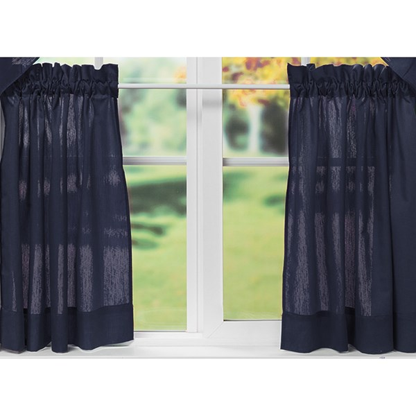 Ellis Curtain Stacey Tailored Curtain Tiers - 56x24?, Rod-pocket Top