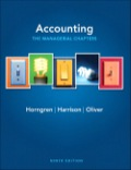 Accounting, Chapters 14-24 (managerial Chapters), 9/e