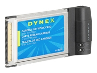 Dynex Dx-e202 - Network Adapter - Cardbus - Ethernet, Fast Ethernet - 10base-t, 100base-tx