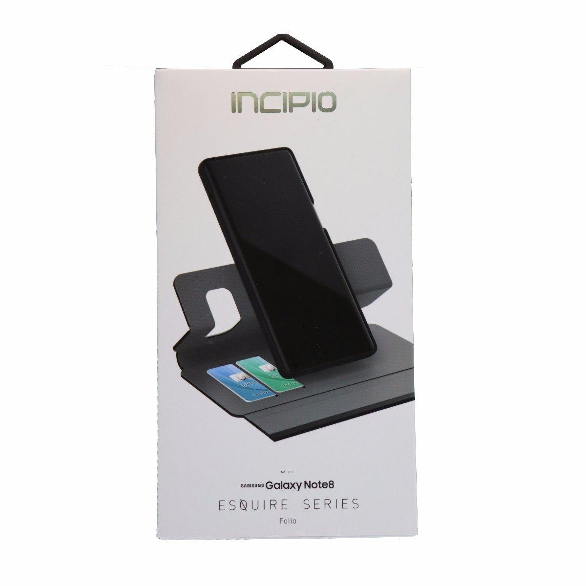 Incipio Esquire Series Folio Protective Case Cover for Galaxy Note 8 - Gray