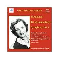 Gustav Mahler - Symphony No. 4, Kindertotenlieder (Walter, VPO, Ferrier) (Music CD)