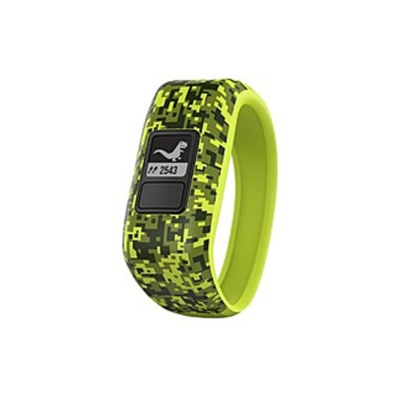 Garmin Vivofit Jr. Activity Tracker - Steps Taken - Sleep Quality - Timer - Green Camo