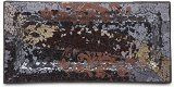 Up Words by Pavilion Rootbeer Color Mosaic Glass Candle Tray, 12 by 5-3/4-Inch