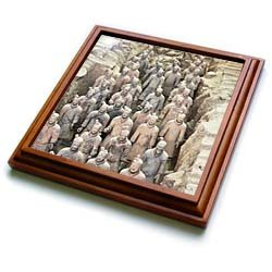 Terracotta army, Xian, Shaanxi Province, China - 8x8 Trivet With 6x6 Ceramic Tile