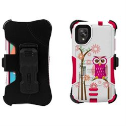 Beyond Cell CBTS31LGN5DE309 Screen Protector Suitable for LG Nexus 5 Tri Shield Kombo Daisy Owl Kick Stand