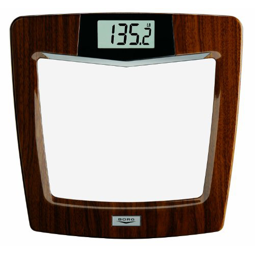 Borg Bdl928kd-53 Digital Weight Scale Glass/mahogany