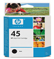 The black HP 45 Inkjet Print Cartridge gives you professional quality text that always comes out sharp and crisp