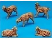 Set of 2 Fontanini 5 Brown Sheep Family 5-Piece Nativity Sets #52539