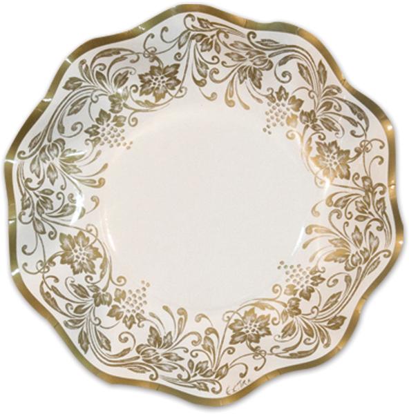 Italian Tableware - Traditional Gold Medium Bowls