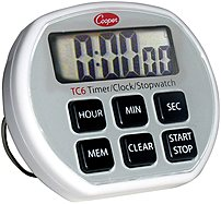 Cooper 10-tc6-0-8 Tc6 Digital Timer/clock/stopwatch - Silver
