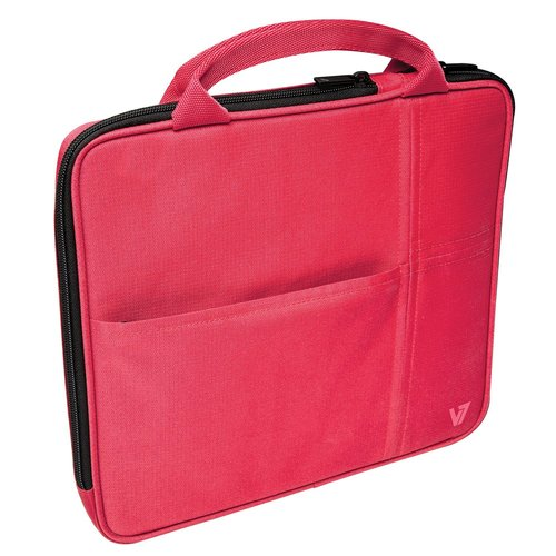 V7 Attache Slim Ta20red-1n Sleeve - For Tablets 7-inch To 9.7-inches - Polyester - Red