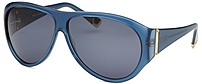 Balenciaga Bal0016s-1nl9a Women's Aviator Sunglasses - Blue