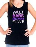 Activewear Apparel Big Girls 'Vault Bars Beam Floor' Tank Top (10-12 (Medium), Black)