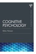 First published in 1967, this seminal volume by Ulric Neisser was the first attempt at a comprehensive and accessiblesurvey of Cognitive Psychology; as such, it provided the field with its first true textbook