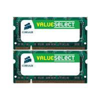 Corsair Value Select - Memory - 4 GB ( 2 x 2 GB ) - SO DIMM 200-pin - DDR2 - 800 MHz / PC2-6400 - CL5 - unbuffered - non-ECC