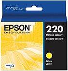 Epson Durabrite Ultra Ink T220 Ink Cartridge - Yellow - Inkjet - Standard Yield - 1 Each T220420