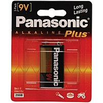 Panasonic Alkaline Plus General Purpose Battery - Alkaline - 9v Dc 6am-6pa/1b
