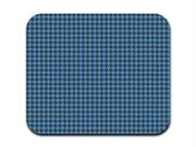 Houndstooth Pattern - Blue and Black Mousepad Mouse Pad