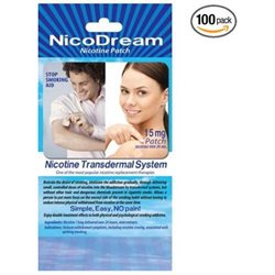 NICOTINE PATCH - NicoDream 1.00/ Each Buy WHOLESALE ; 100 Single Pack Nicotine Patches for $100 - Retails for $ 3.00 /each