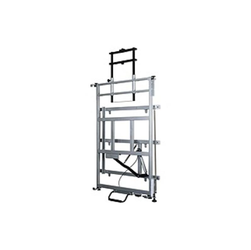 Mooreco Elevation Wall Mount For Whiteboard, Cart, Projector - 125 Lb Load Capacity - Platinum
