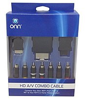 Onn Ona12mg020 Hd A/v Combo Video Component Cable For Xbox, Playstation 2