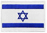 Israel Flag Embroidered Patch Jewish Star of David Iron-On Israeli National Emblem