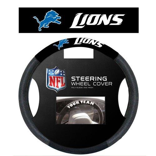 Fremont Die Inc Detroit Lions Poly-Suede Steering Wheel Cover Steering Wheel Cover