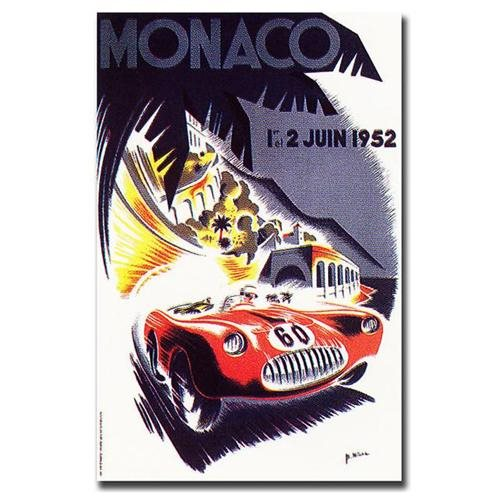 Monaco 1952 by George Ham-Gallery Wrapped 18x24 Canvas Art