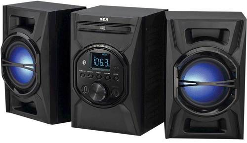 Rca Rs3697b Audio System With Lighted Speakers - Bluetooth - Black