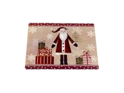 Carnation Home Fashions Indoor Saint Nick Holiday Place Mat