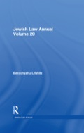 Volume 20 of The Jewish Law Annual features six detailed studies