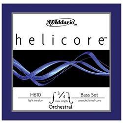 D'Addario Helicore Silk & Steel Contra-Bass Strings, Light - D'Addario &Co. Inc -H610 3/4L