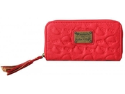 Wallet - Hello Kitty - Red Embossed Washed Faux New Gifts Sanwa0680