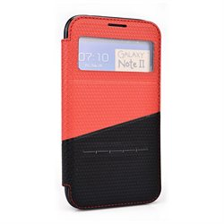 Kroo Red and Black Smart Case w/ Slide Answer for Samsung Galaxy Note II