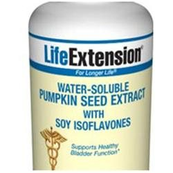 Life Extension Water-Soluble Pumpkin Seed Extract with Soy Isoflavones 60 vegetarian capsules