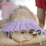 Tenworld Baby Shampoo Shower Bathing Protect Adjust Soft Cap Hat (Purple)