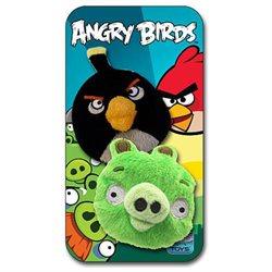 Angry Birds 2-Pack Bean Bags - Black/Pig