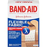 BAND-AID Bandages Flexible Fabric Assorted Sizes 30 Each (Pack of 2)