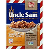 Uncle Sam Toasted Whole Wheat Berry Flakes & Flaxseed Original Cereal, 10-Ounce Boxes (Pack of 6)