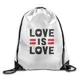 Gym Funny Love Is Love Drawstring Backpack Bag