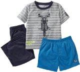 Carter's Little Boys' 3 Piece Striped Set (Toddler/Kids) - Motorcycle - 2T