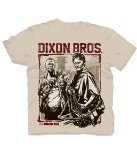 Changes The Walking Dead Dixon Bros. Woodblock Stamp Men's T-Shirt, Natural, X-Large