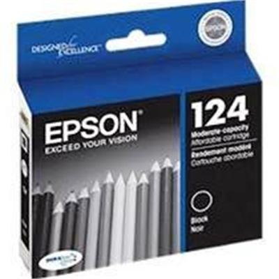 Epson T124120-s 124 - Moderate Capacity - Black - Original - Ink Cartridge - For Stylus Nx230 Small-in-one  Nx330 Small-in-one  Nx420  Nx430 Small-in-one  Workf