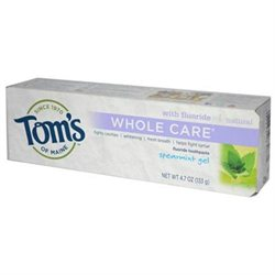 Tom's Of Maine Spearmint Whole Care Gel Toothpaste