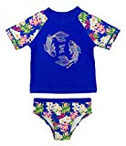 Tommy Bahama Girls 2-Piece Koi Rash Guard and Swim Bottoms Set Dark Blue Size 2T