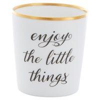 Enjoy The Little Things Tealight Holder By Indigo