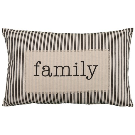Family Ticking Stripe Pillow - 16x26?, Feathers