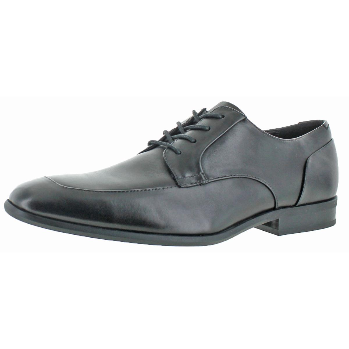 Calvin Klein Men's Lazarus Calf Leather Dress Oxford Derby Shoe Black Size 9