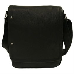 Piel Personalized Leather Flap-Over Carry-All